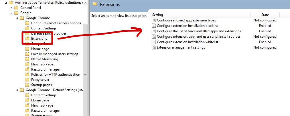 วิธีป้องกันการติดตั้ง extension บน Google Chrome ด้วย Group Policy